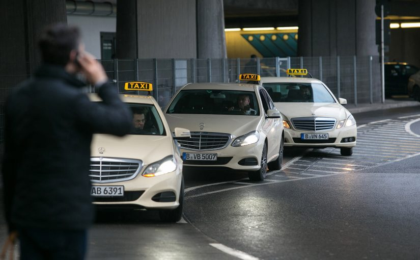 Cabs at Berlin airport
